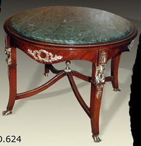 Tavolo rotondo antico stile barocco rococò louisxv mota0624 stile ...