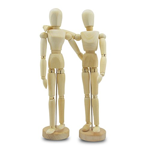 Theater Masks History (Choeko Wooden Human Mannequin Two Kinds of Unisex 8.5 Inches Tall)