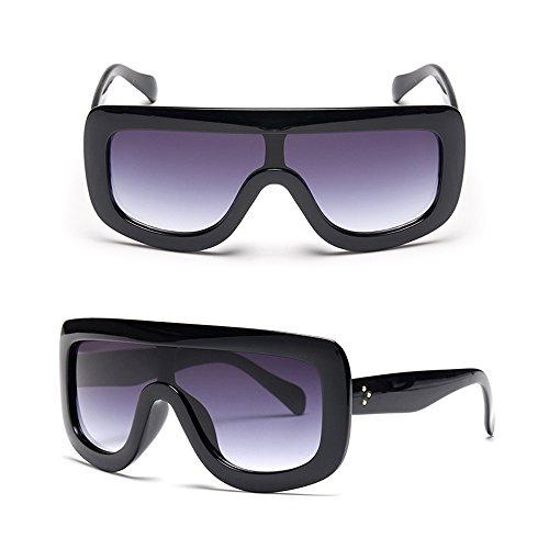 d'ombrage Les femmes unique Lentille cadre rectangulaires style soleil soleil la épais des Bleu les de protection avec surdimensionné UV400 Cadre lunettes Dintang ont de de Noir de de mode lunettes Z1dqZ8w