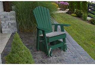 product image for Poly 2 Ft Single Adirondack Glider Chair - Green