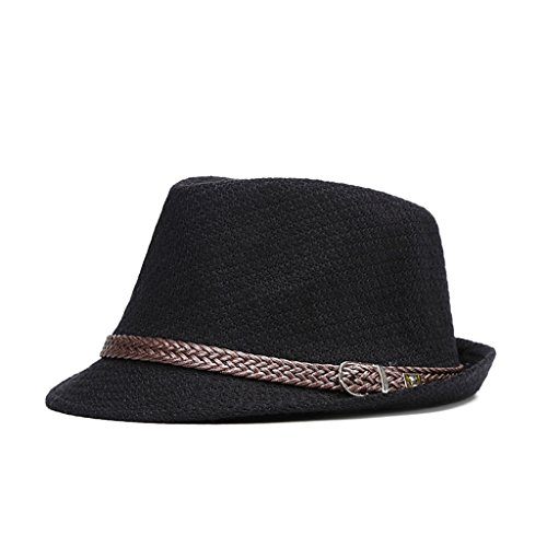 AOBRITON Autumn Winter Men Fedoras Jazz Hat Bowler Cotton England Retro Cap