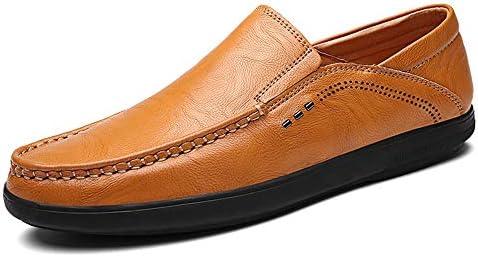 運転夏の本革ローファー用男性靴モカシン快適なスリップオンオフィスビジネスドレスフォーマル男性の靴弾性デザイン低トップ無地