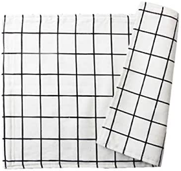 DEBRICKS Cotton Linen Table Placemats Cup Tea Pads Anti-Skid Coasters Stain Resistant Mats Kitchen Washable Bowl Holder Dinner Decor Table Place Mat, 2pcs/Lot