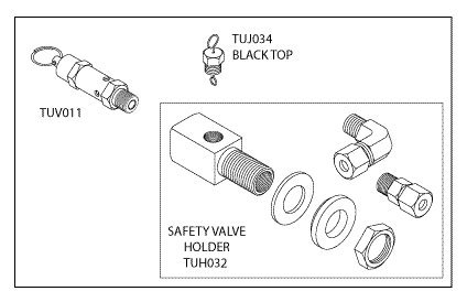 - Safety Valve Holder Kit (37 PSI) for Tuttnauer TUK054