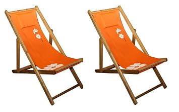Klappliege Holz.Amazon De 2x Leco Klappliege Sonnenliege Liege Holz Liegestuhl