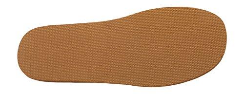 Bosaco Uomo Comfort Lusso Pantofole Scarpe Da Casa In Vera Pelle Marrone