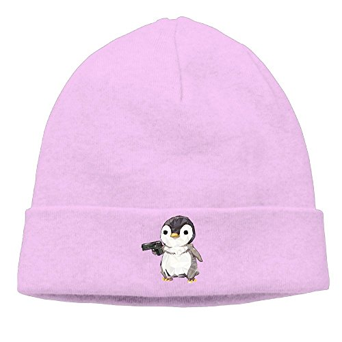 The Male And Female General Cubic Penguin Power The Female Head Scarf Cap The Autumn And Winter Season Belt Are Very Suitable Pink -