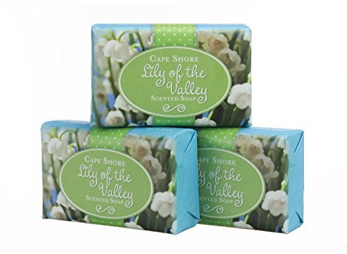 Cape Shore Lily of the Valley Scented Bar Hand/Body Soap, Pack of 3 Bars, 3oz Each.