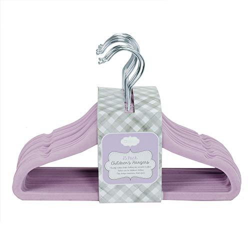 Home Expressions Children's Ultra Thin Premium 25 Pack Velvet Hangers (Lavender) ()
