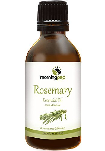ROSEMARY OIL 4 OZ by Morning Pep Large Bottle Pure And Natural Therapeutic Grade , Undiluted unfiltered and with no fillers, PREMIUM QUALITY Aromatherapy ROSEMARY Essential oil (118 ML)