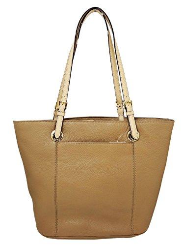 Michael Kors Jet Set Item Genuine Leather Large Tote Shoulder Handbag Purse - Dark - Kor Micheal Store