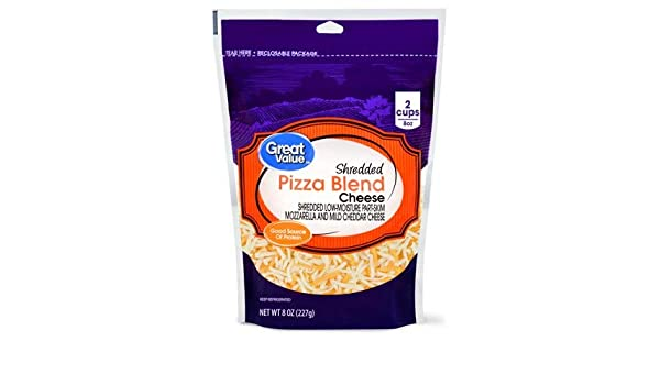 Expect More Great Value Shredded Pizza Blend Cheese, 6 ct ...
