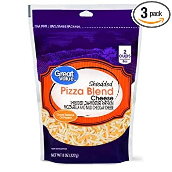 Expect More Great Value Shredded Pizza Blend Cheese, 3 ct ...