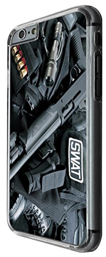 911 - Army equipment shot gun funky Design For iphone 6 Plus / iphone 6 Plus S 5.5'' Fashion Trend CASE Back COVER Plastic&Thin Metal -Clear