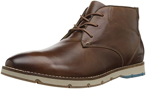 Hush Puppies Men's Breccan Hayes Ankle Bootie, Light Brown, 9.5 W US
