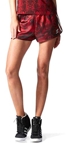 - Adidas Originals Women's Shorts Exclusive Camo Roses Retro Medium Red Clash