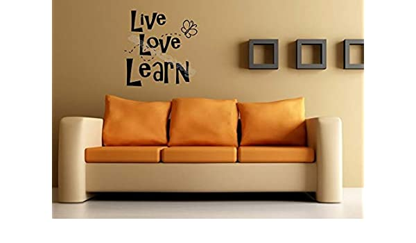 Live love learn Quote Vinilo adhesivo de pared Papel tapiz ...