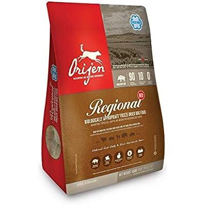 ORIJEN Regional Red High-Protein, Grain-Free, Premium Quality Meat, Freeze-Dried Dog Food