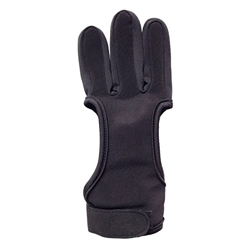 Archery Shooting Gloves Leather Bow Protective Archery Gloves Three Finger Recurve Bow Archery Glove (XL 10cm)
