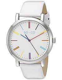 SO & CO New York  Unisex 5092.1 SoHo Analog Display Quartz White Watch