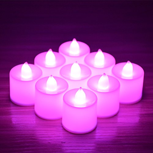 24pcs Battery Operated Candles,Winzik Flameless LED Tealight Candles,Votive Style,Valentine's Day Romantic Date,birthday - Day Dates Valentine