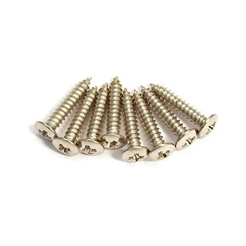 - Allparts GS-3397-001 Pack of 8 Nickel Short Humbucking Ring Screws