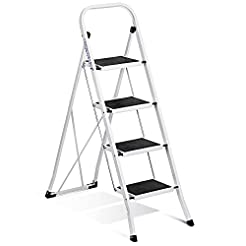 Delxo Folding 4 Step Ladder Ladder with ...