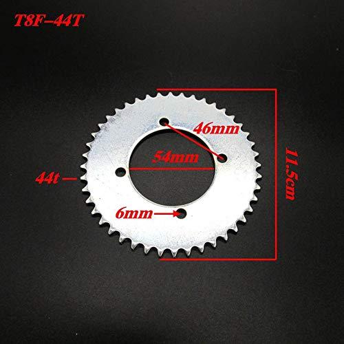 Durable moto dent/ée pignon T8F-44T pignon de scooter en acier inoxydable professionnel modifi/é moto partie-argent