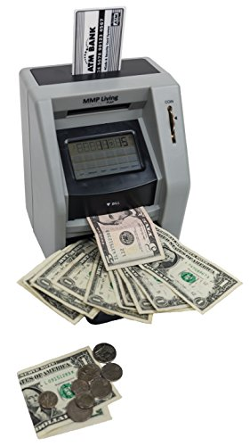 ATM Savings Bank with Touch Screen- Black