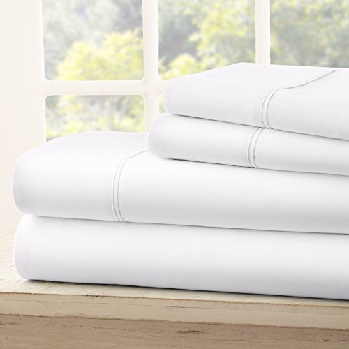 egyptian-comfort-1800-count-deep-pocket-4-piece-bed-sheet-set-white-king
