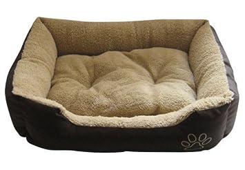 Suave Perro Cama - BEIGE MARRÓN OSCURO INTERIOR EXTERIOR - Grande - ntd9751yr: Amazon.es: Productos para mascotas