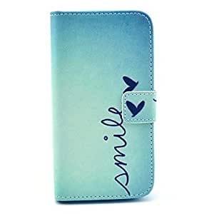 LZX Smile Butterfly Design PU Leather Full Body Case with Stand for Samsung Galaxy S4 I9500