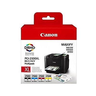 1 x Original cartouche d'encre de type canon pGI - 2500 pour canon maxify mo 5350 noir cyan jaune magenta--