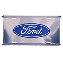 Ford License Plate - Silver 14728