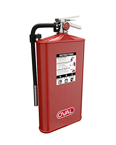 Extinguisher Stainless Fire Cabinets Steel (Oval Brand 10 lb ABC Fire Extinguisher Model 10JABC with 4A:80B:C Rating)