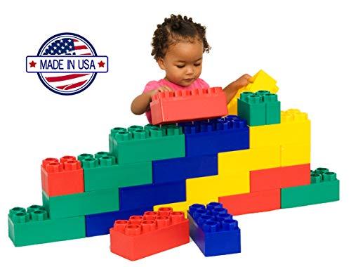 - Jumbo Blocks 26 Pieces Educational Learning Set with Animal & Alphabet Stickers, 8