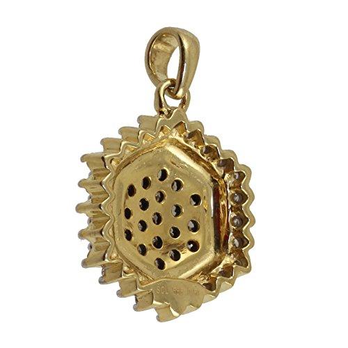 Private Diamonds en or véritable 585Pendentif diamant 0.50ct F441