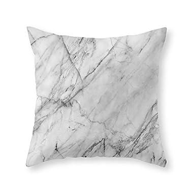 Society6 Carrara Marble Throw Pillow Indoor Cover (18  x 18 )