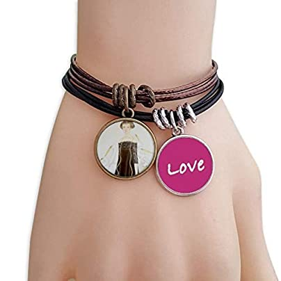 FerryLife Beauty Egrets Chinese Style Watercolor Love Bracelet Leather Rope Wristband Couple Set Estimated Price £9.99 -