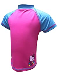 Hello Kitty Girls Short Sleeve Rash Guards