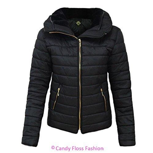 Fashion Nero Cappotto Candy Floss Donna 51qaq