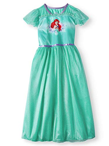 The Little Mermaid Ariel Girls Fantasy Gown Nightgown Pajamas (Toddler/Little Kid/Big Kid) ()