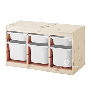 IKEA TROFAST(トロファスト)収納コンビネーション パイン材 ホワイト/ホワイト 94x44x52cm ...