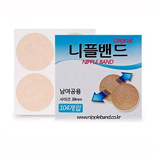 [Nipple Band]Men Women Nipple Band 104 Pcs Cover Wide Sticker Patch Pad Hide Nipple (1.53 inch, 39mm) (1)