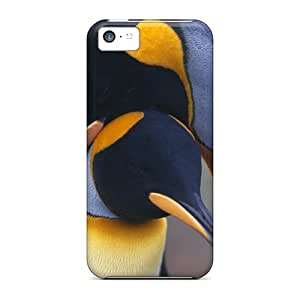 First-class Case Cover For Iphone 5c Dual Protection Cover Penquin Love