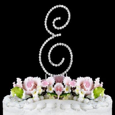 RENAISSANCE MONOGRAM WEDDING CAKE TOPPER LARGE LETTER E