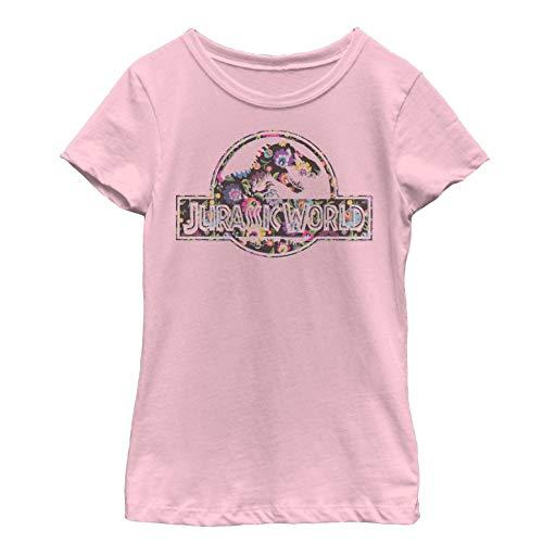 Jurassic World Girls' Vintage Hippie Flower Logo Light Pink ()