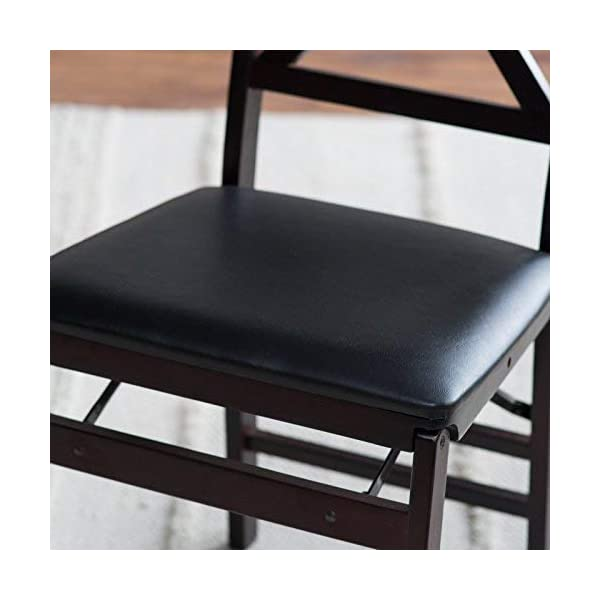 Cosco Espresso Wood Folding Chair with vinyl seat &X-Back (2-pack)