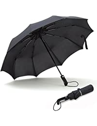 Umbrellas Travel Folding Automatic Umbrella Strong Windproof Compact 210T 10 Ribs Light Weight Auto Open Close