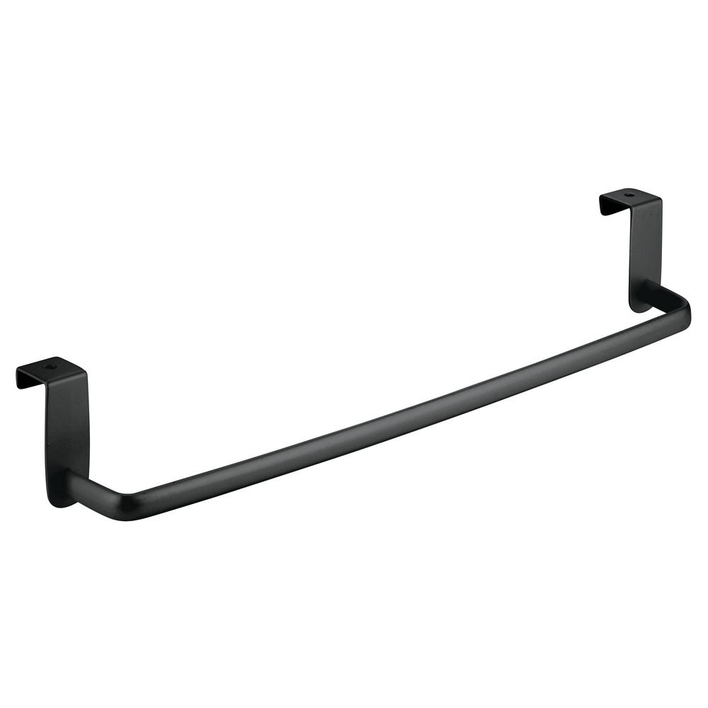 InterDesign Axis Over-the-Cabinet Kitchen Dish Towel Bar Holder - 14, Black Matte 57477